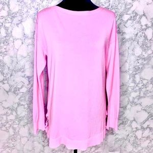 TALBOTS | Pink Long Sleeve Tunic Blouse